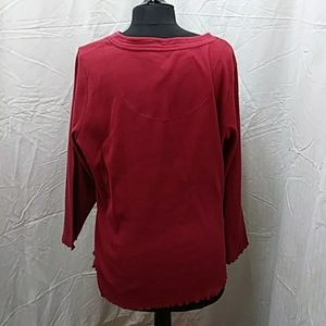 relaxed fit Tops - 18/20 W long sleeve Red